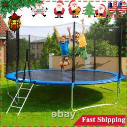 10-FT Kids Trampoline Combo Bounce Jump Safety Enclosure Net withSpring Pad Ladder
