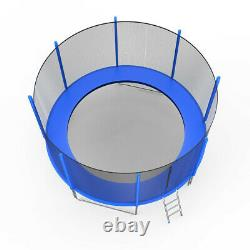 10 FT Kids Trampoline With Enclosure Net Jumping Mat And Spring Cover Padding