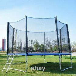 10 FT Kids Trampoline With Enclosure Net Jumping Mat And Spring Cover Padding US