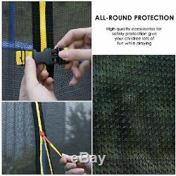 10 FT Round Trampoline Enclosure Net Jumping Mat Pad Combo Bounce Set Outdoor US