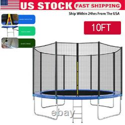10FT Trampoline With Enclosure Net Jumping Mat And Spring Cover Padding Safety U