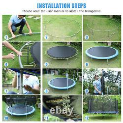 10FT Trampoline for Kids and Teens with Safety Enclosure Net, 331lbs Capacity