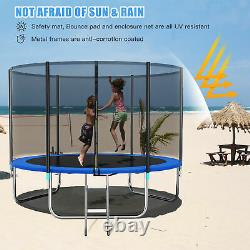 10FT Trampoline with Safety Enclosure Net, 331lbs Capacity for Kids and Teens