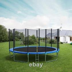 10ft Round Trampoline Enclosure Net Jumping Mat Spring Pad Combo Bounce Set US