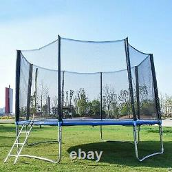 12 FT Kids Trampoline With Enclosure Net Jumping Mat And Spring Cover Padding