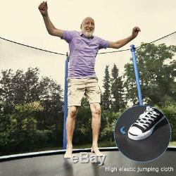 12 FT Round Trampoline with Enclosure, Net With Spring Pad Ladder