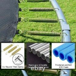 12 FT Safe Trampoline Enclosure Net Jumping Mat And Spring Cover Padding For Kid