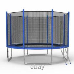 12-Foot Trampoline Combo Bounce Jump Trampoline with Safety Enclosure Net