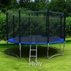 12 Ft Kids Trampoline With Enclosure Net Jumping Mat & Spring Cover Padding US