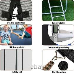 12FT Kid Trampoline With Enclosure Net Jumping Mat And Spring Cover Padding Gift