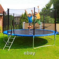 12FT Trampoline Combo Bounce Jump Safety Enclosure Net withSpring Pad Ladder Jum