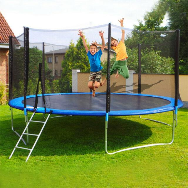 12ft Trampoline Kids Adults With Enclosure Net Indoor Outdoor Trampoline Backy