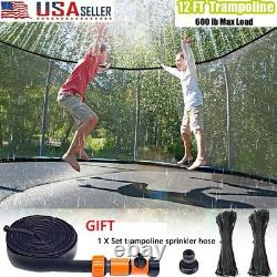 12FT Trampoline with Safe Enclosure Net Jumping Mat & Spring Cover Padding & Gifts