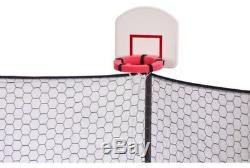 14 Foot Round Trampoline And Double Net Enclosure With Dunkzone Hoop SHIPS FREE