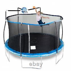 14 Foot Trampoline With Safety Enclosure Net Basketball Jump System Heavy Duty