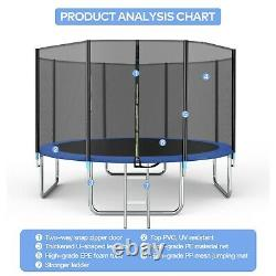 14FT Trampoline for Kids and Teens with Safety Enclosure Net, 331lbs Capacity
