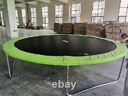 14FT Trampoline with Internal Safety Net Enclosure, Ladder+Rain Cover (48hr del)