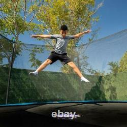 14ft Backyard Trampoline Safety Enclosure with Flash Lite Zone Durable High Quali