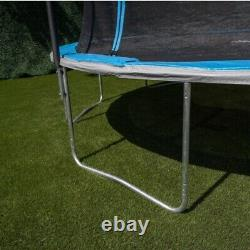 14ft Backyard Trampoline, with Basketball Hoop and Enclosure, Blue, FREE SHIP