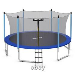 15 FT Trampoline Combo Bounce Jump Safety Enclosure Net With Spring Pad Ladder