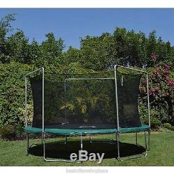 15 Ft Trampoline With Enclosure Combo Electron Shooter Game Round Jumpking