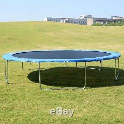 15' Trampoline Combo Bounce Jump Safety Enclosure Net with Spring Pad Ladder US