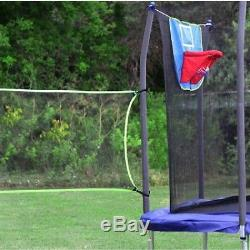 15' x 15' Square Sports Trampoline Safety Enclosure Arena With Blue Spring Pad