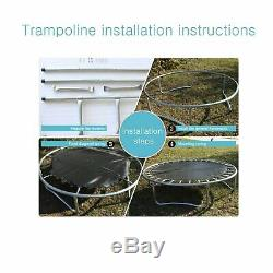 15FT Trampoline Combo Bounce Jump Safety Enclosure Net WithSpring Pad Ladder mat