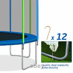 16FT Premium Trampoline With Enclosure Safety Net Adults/Kid Outdoor Trampoline