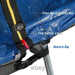 16FT Round Trampolines Jump Safety Enclosure Net Ladder for Kids Adults 330 lbs