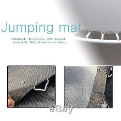 2018 15FT Trampoline with Enclosure Net Pad Ladder Lawn Stakes Bounce Jump New