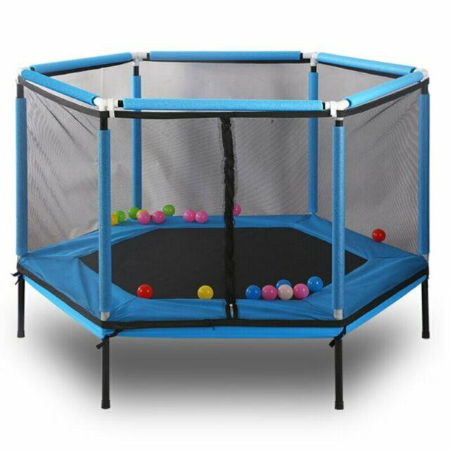 5' Backyard Trampoline With Safety Enclosure Kids Play Jump Outdoor Yard Fitness