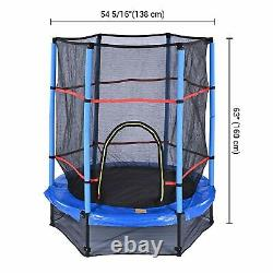 55 Jumping Round Kids Trampoline with Safety Enclosure Pad Exercise Home Sports