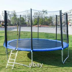 6/10/12FT Kids Trampoline With Enclosure Net Jumping Mat & Spring Cover Padding