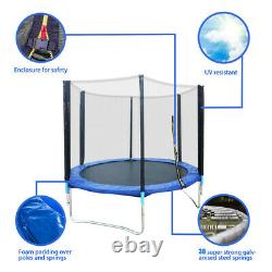6 FT Large Trampoline withSafe Enclosure Net Jumping Mat And Spring Cover Padding