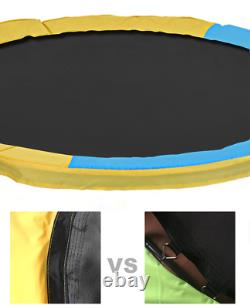 60 Inches Trampoline With Safety Enclosure Protective Net Indoor Outdoor Kids