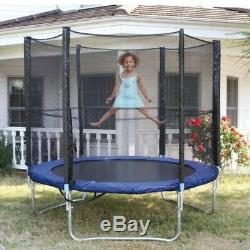 6FT Kids Mini Jumping Round Trampoline Exercise With Safety Pad Enclosure Combo HH
