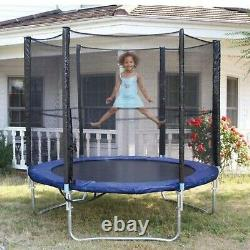 6FT Kids Trampoline With Enclosure Net Jumping Mat And Spring Cover Padding