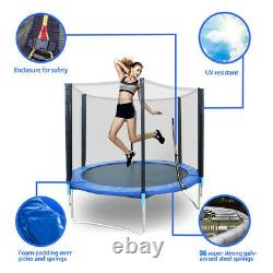 6FT Kids Trampoline With Enclosure Net Jumping Mat And Spring Cover Padding US