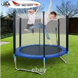 6FT Trampoline Outdoor With 6xT connector +6xLegs +Enclosure Net for Adults Kids