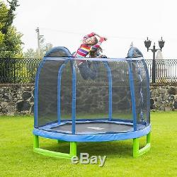 7' Round Trampoline With Safety Net Outdoor Jumping Bounce Enclosure Kids Fun