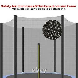 72'' 6FT Trampoline withSafe Enclosure Net Jumping Mat And Spring Cover Padding