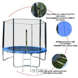 8 FT Kids Trampoline With Enclosure Net Jumping Mat And Spring Cover Padding