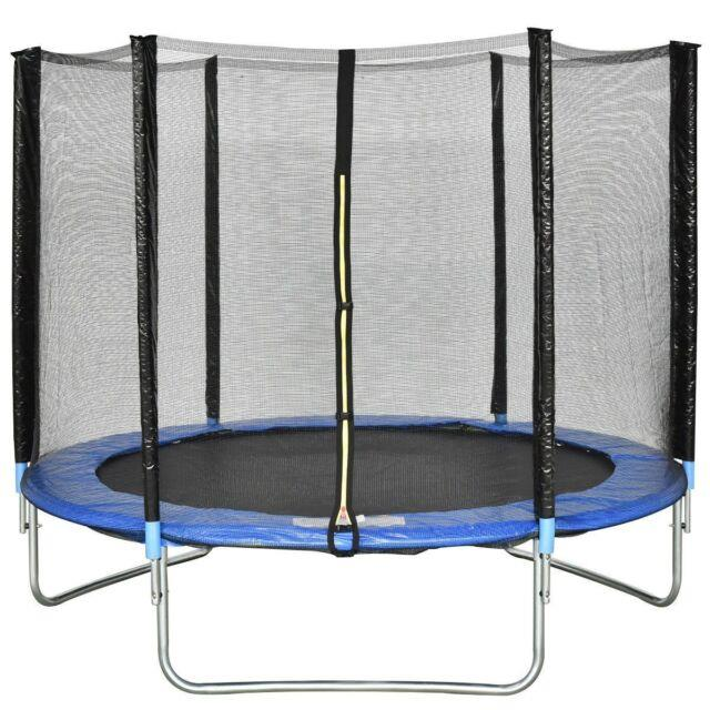 8 Ft Trampoline Combo Bounce Jump Safety Enclosure Net With Spring Foam Pad Mat