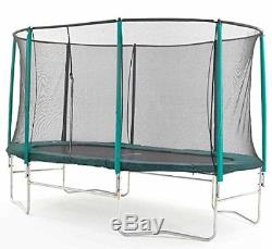 8 Foot x 14 Foot Skyhigh Oval Trampoline with Safety Enclosure. Superior and of