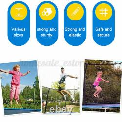 8FT 10FT 12FT 15FT Kids Adults Trampoline withEnclosure Net and Ladder 425LBS Load