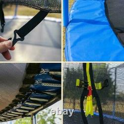 8FT Kids Trampoline With Enclosure Net Jumping Mat & Spring Cover Padding