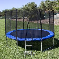 BCP 12' Round Trampoline Set With Safety Enclosure, Padding & Ladder OY
