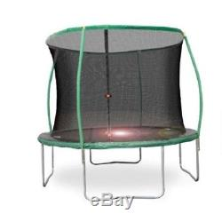 Bounce Pro 10' Steelflex Trampoline with Enclosure Net and Flashlight Zone NEW