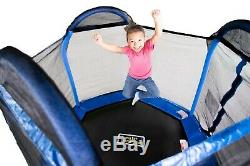 Bounce Pro 7-Foot Trampoline Hexagon (Ages 3-10) for Kids Netted Enclosure